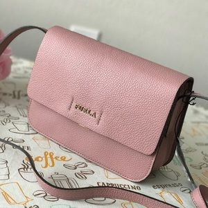 New Furla leather small Crossbody bag